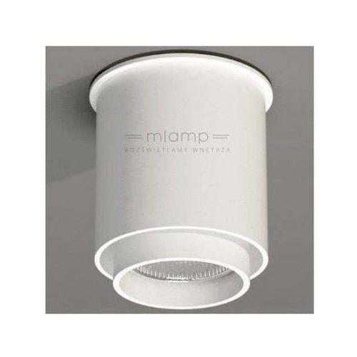 Downlight lampa sufitowa iga 1115/gu10/bi metalowa oprawa natynkowa spot tuba biała marki Shilo