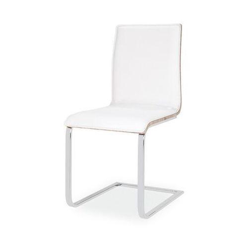Krzesło ze sklejki i ekoskóry na płozach h690 marki Signal