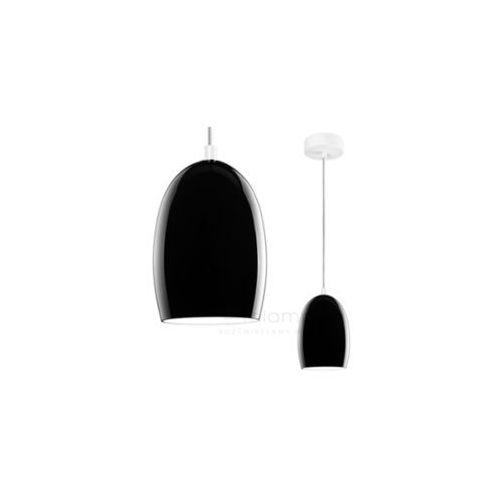 Lampa wisząca ume 1/s/black/opal szklana oprawa nowoczesna zwis czarny marki Sotto luce