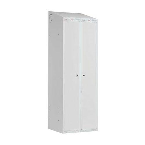 Aj produkty Szafa ubraniowa classic combo, 2 drzwi, 1900x600x550 mm, szary