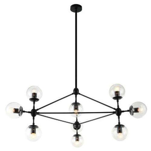 Lampa wisząca bao nero clear metalowa oprawa industrialna zwis szklane kule balls loft przezroczyste marki Orlicki design