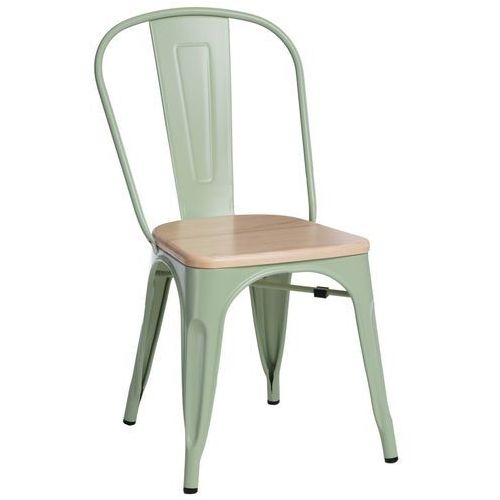 Krzesło Paris Wood zielone sosna natural MODERN HOUSE bogata chata, kolor zielony