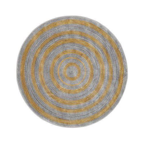 Dywan okrągły NANO złoto-beżowy śr. 100 cm (5901760185196)