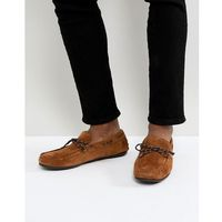 suede driving shoe - brown, Selected homme