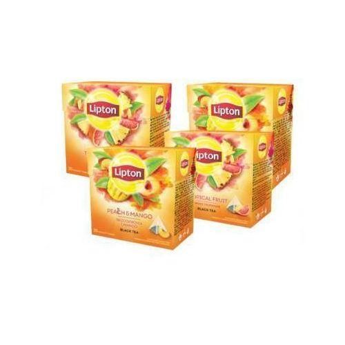 Lipton Zestaw 4x herbata czarna tropikalna mango brzoskwinia