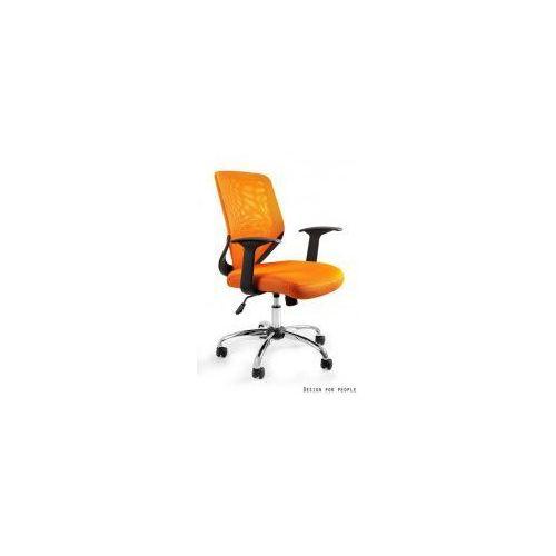 Krzesło biurowe Mobi pomarańczowe, kolor pomarańczowy