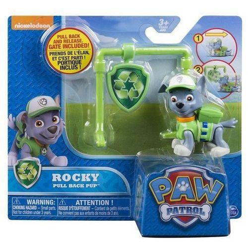 Spin master Psi patrol figurka akcji z odznaką, rocky - darmowa dostawa od 199 zł!!! (5902002057431)