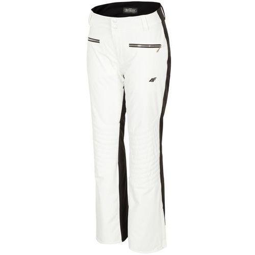 Spodnie narciarskie damskie SPDN151z - biały