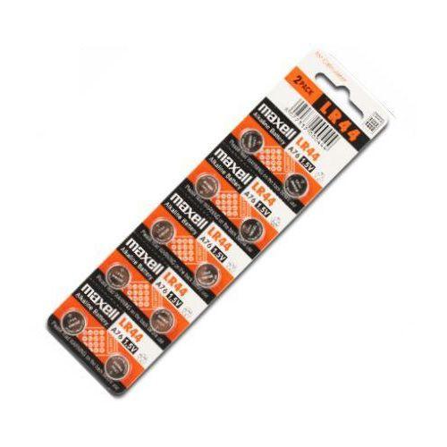 Maxell 10 x bateria alkaliczna mini  g13 / ag13 / l1154 / lr44/157 / v13ga / rw82 / a76 (4902580131401)