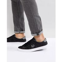 Fred Perry Underspin Nylon Trainers In Black - Black