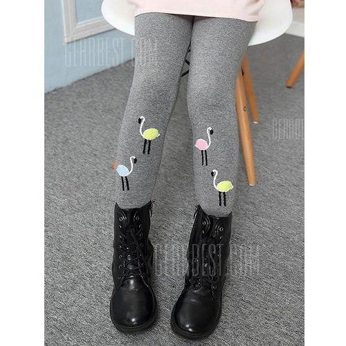 Cotton Blend Lined Swan Print Leggings