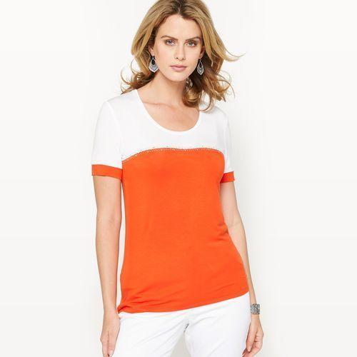 Anne weyburn T-shirt dwukolorowy, elastyczna dzianina