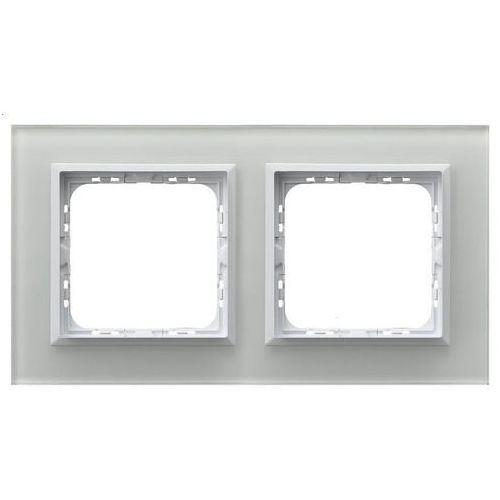 OSPEL SONATA R-2RGC/31/00 Ramka podwójna BIAŁY Białe szkło, grubość 4mm