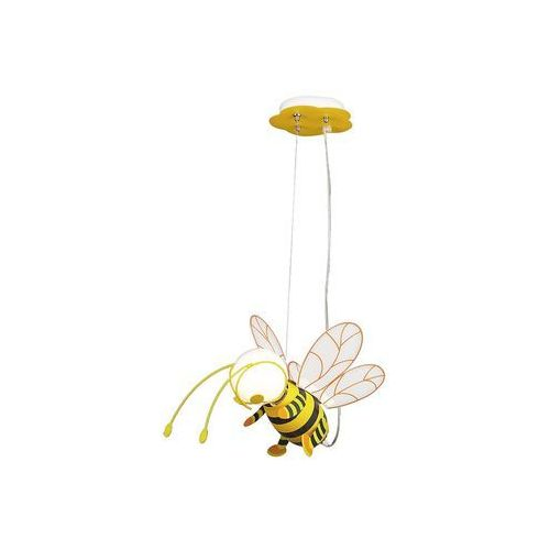 Rabalux Lampa wisząca dziecięca zwis pszczoła bee 1x40w e27 żółta/czarna 4718 (5998250347189)