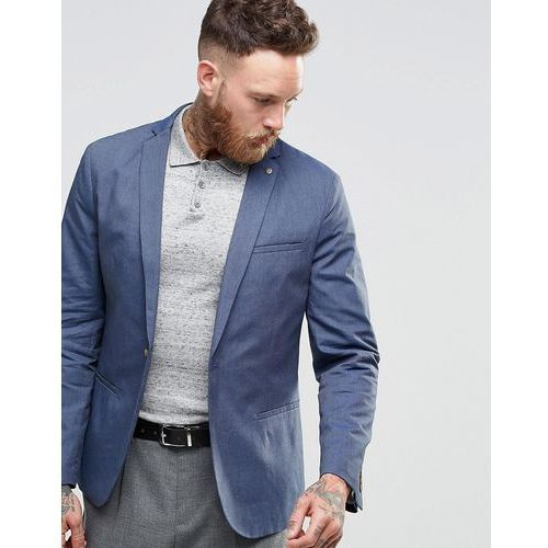 slim casual lightweight suit jacket - blue marki Selected homme