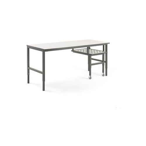 Stół roboczy CARGO, z wysuwaną półką, 2000x750 mm, 202054