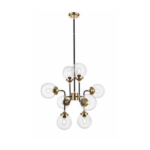 ZUMALINE RIANO P0454-08D-SDAC Lampa wisząca 8x max40W E27, czarny / złoty, kolor Złoty
