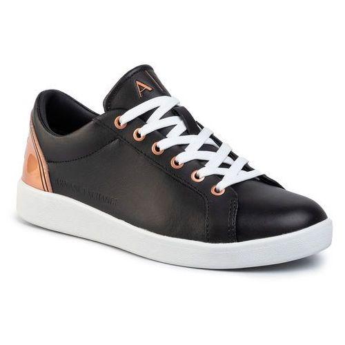 Sneakersy - xdx034 xv162 a155 black/rose gold marki Armani exchange