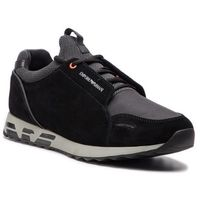 Sneakersy - x4x241 xl690 c437 black/black/black/gr marki Emporio armani