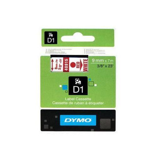 DYMO Taśma D1 9mm x 7m, czerwony / biały