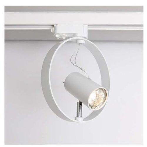 Reflektorowa LAMPA sufitowa WAKO 6605/GU10/BI Shilo metalowa OPRAWA do systemu szynowego 3-fazowego biały, 6605/GU10/BI