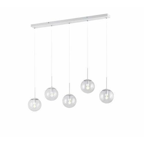Trio balini 308500531 lampa wisząca zwis 5x28w e14 biała/transparentna (4017807468618)