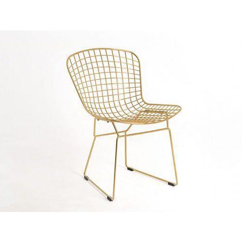 Krzesło metalowe Customform WIR - złoty, CH017WIRE-DR-19 (10211732)