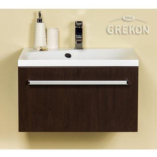 Szafka łazienkowa z umywalką 60/50m seria fokus wenge mat marki Gante