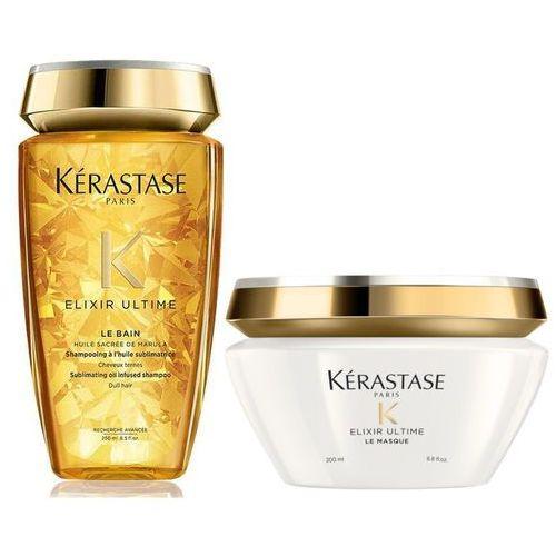 Kerastase Elixir Ultime | Zestaw do każdego rodzaju włosów: kąpiel 250ml + maska 200ml (9753197531501)