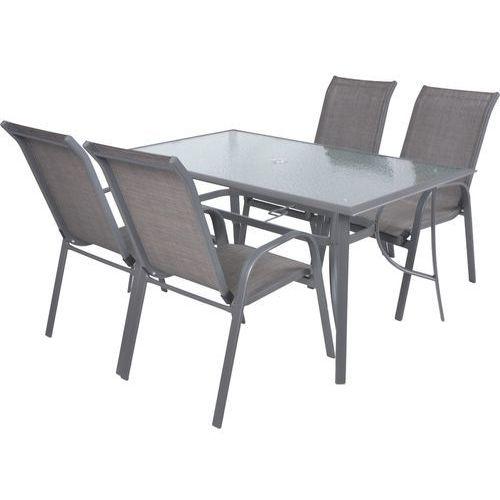 Hecht sofia set 4 meble ogrodowe zestaw mebli ogrodowych stół + 4 krzesła aluminium szkło - ewimax oficjalny dystrybutor - autoryzowany dealer hecht marki Hecht czechy