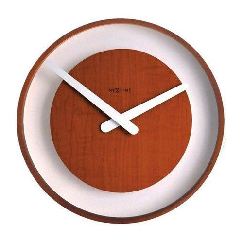 Nextime Zegar ścienny wood loop ciemny (3046 br)
