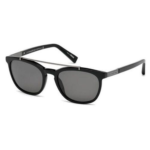 Okulary Słoneczne Ermenegildo Zegna EZ0044 Polarized 01D