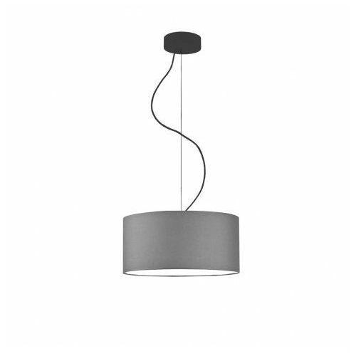 Lysne Nowoczesna lampa wisząca hajfa fi - 60 cm - kolor szary stalowy/czarny 4xe27