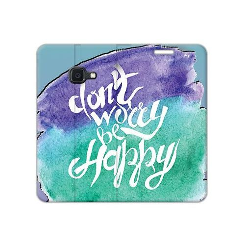 Samsung Galaxy Xcover 4S - etui na telefon Flex Book Fantastic - don't worry be happy, ETSM941FBFCFB056000