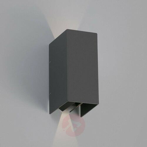 Faro Blind Zewnętrzny kinkiet LED Antracytowy, 2-punktowe - Nowoczesny - Obszar zewnętrzny - Blind - Czas dostawy: od 10-14 dni roboczych (8421776067202)