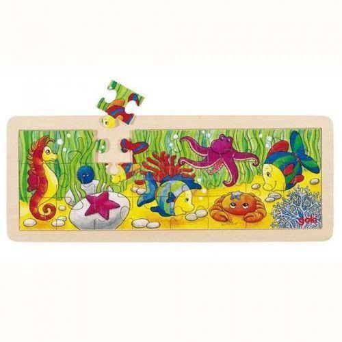 Drewniane puzzle motyw Podwodny Świat, Goki 57837 (4013594578370)