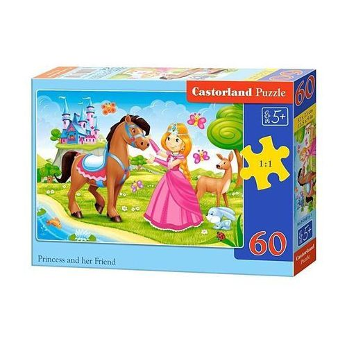 Puzzle 60 elementów Princess and Her Friend, 5904438006816_810165_001