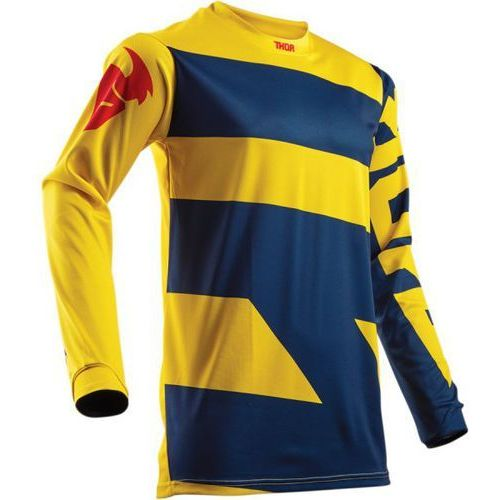 Thor_2018 Thor bluza youth pulse level offroad navy/yellow=$