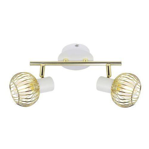 Candellux oslo 92-61805 lampa punktowa 2x40w e14 biały + złoty