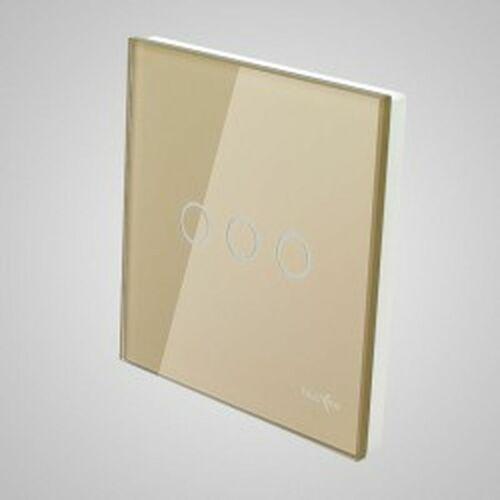 TouchMe Duży panel szklany, łącznik potrójny, złoty TM703G (5902273844754)