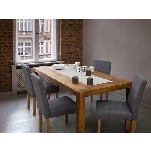Beliani Fotel tapicerowany szary - krzesło do jadalni, kuchni - broadway