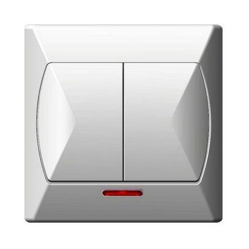 Ospel  akcent wyłącznik podwójny podświetlany (5907577410766)