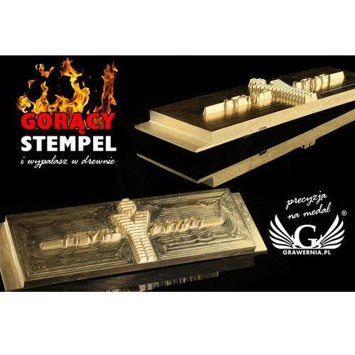 Grawernia.pl - grawerowanie i wycinanie laserem Stempel do wyciskania logotypu na gorąco i zimno - wymiary matrycy: 118x38mm - cnc