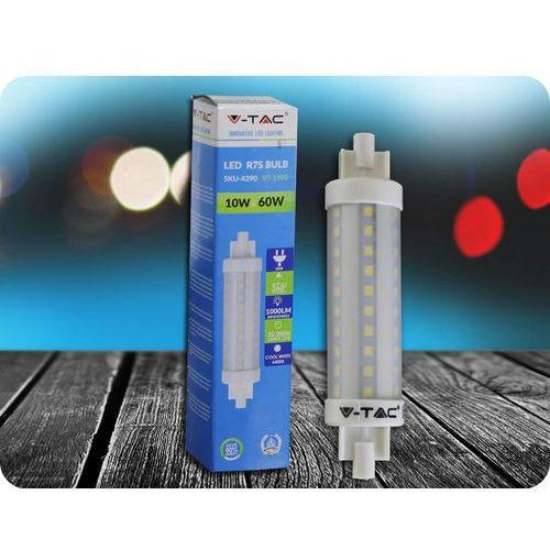 R7S Żarówka LED 10W + Bezpłatna natychmiastowa gwarancja wymiany! Zimna biała 6400K