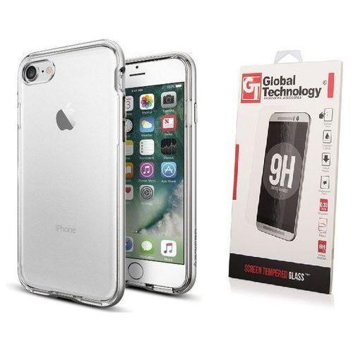 Zestaw | etui spigen neo hybrid crystal stain silver + szkło perfect glass - iphone 7 / 8 marki Sgp - spigen / perfect glass