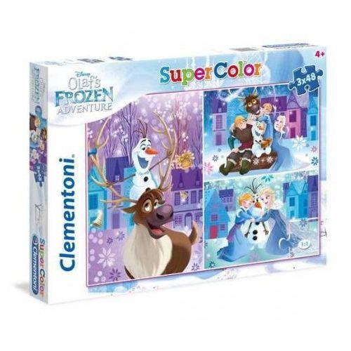Clementoni 3x48 elementów Super Kolor Kraina Lodu, Przygoda Olafa
