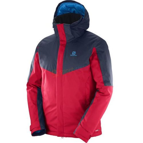 Kurtka narciarska męska Stormseeker Salomon (czerwono-granatowa)