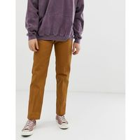 Dickies 873 work pant chino in straight fit in brown duck - Brown, proste