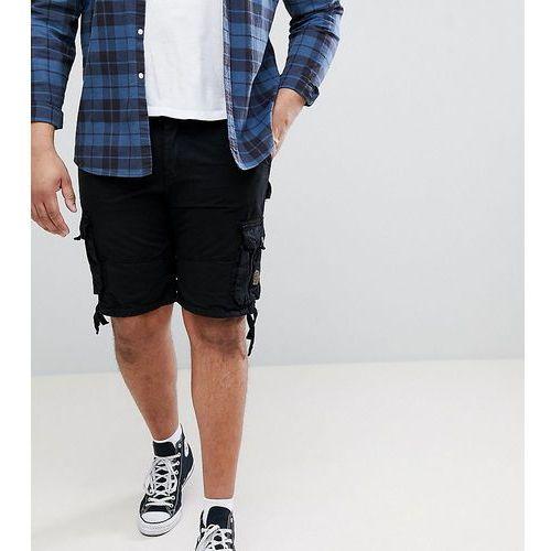 king size cargo shorts with pockets in black - black marki Duke