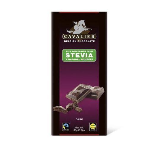 Belgijska czekolada deserowa bez cukru, słodzona stewią 85g - produkt z kategorii- Zdrowa żywność